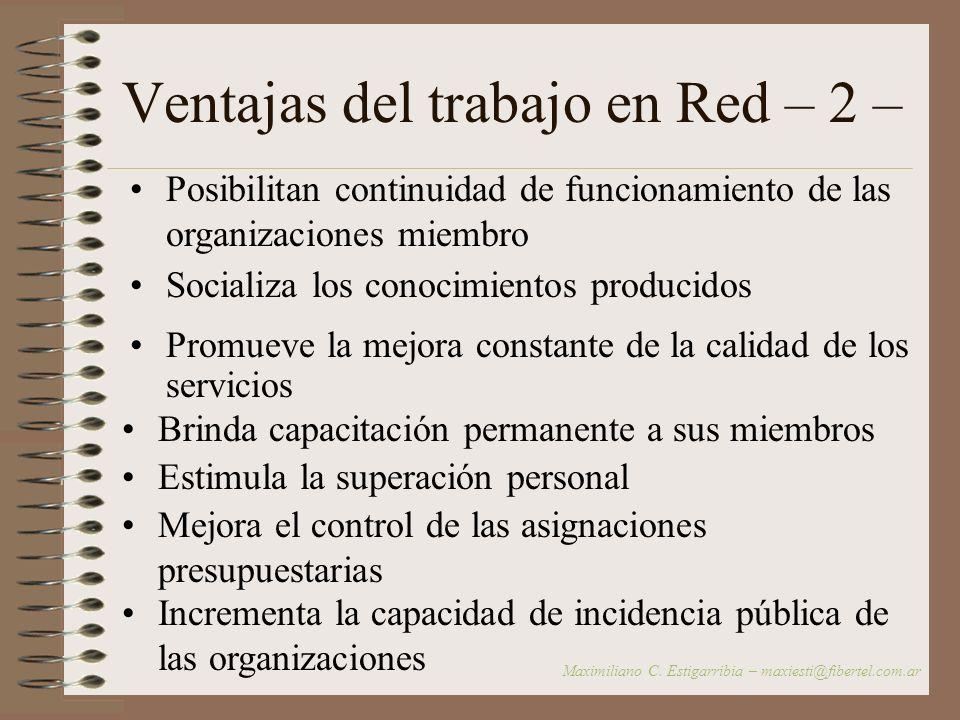 Ventajas del trabajo en Red – 2 –
