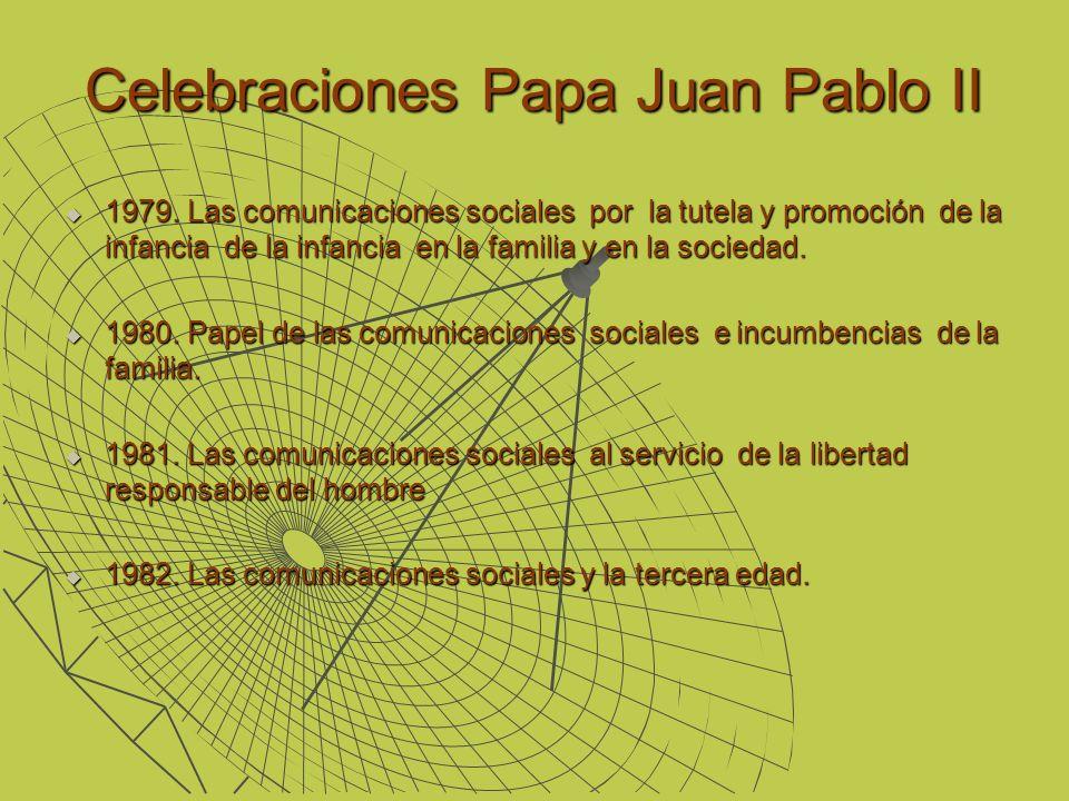 Celebraciones Papa Juan Pablo II