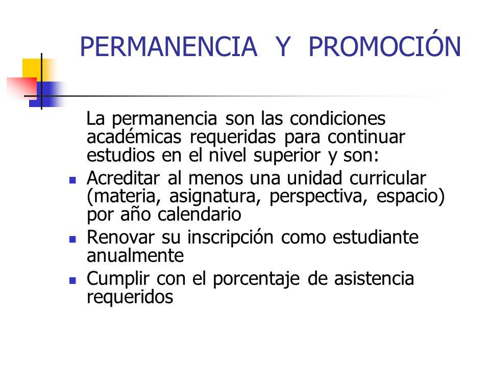 PERMANENCIA Y PROMOCIÓN