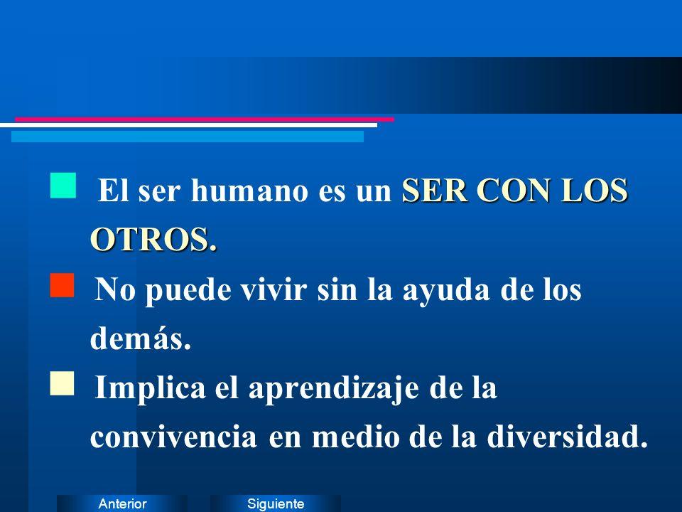 El ser humano es un SER CON LOS