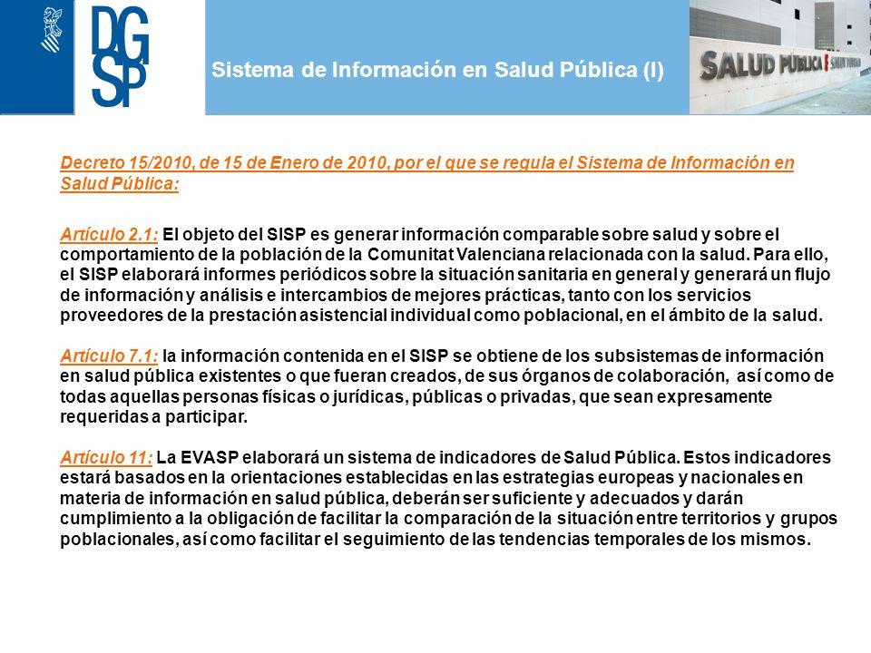 Sistema de Información en Salud Pública (I) 1