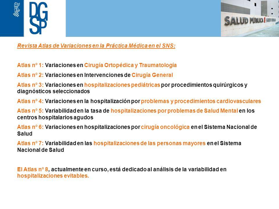 1 Revista Atlas de Variaciones en la Práctica Médica en el SNS: