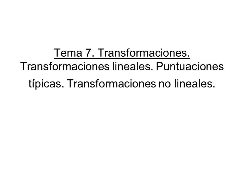 Tema 7. Transformaciones. Transformaciones lineales