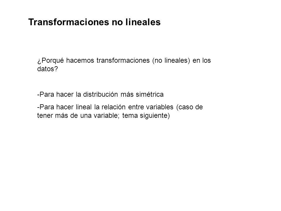 Transformaciones no lineales