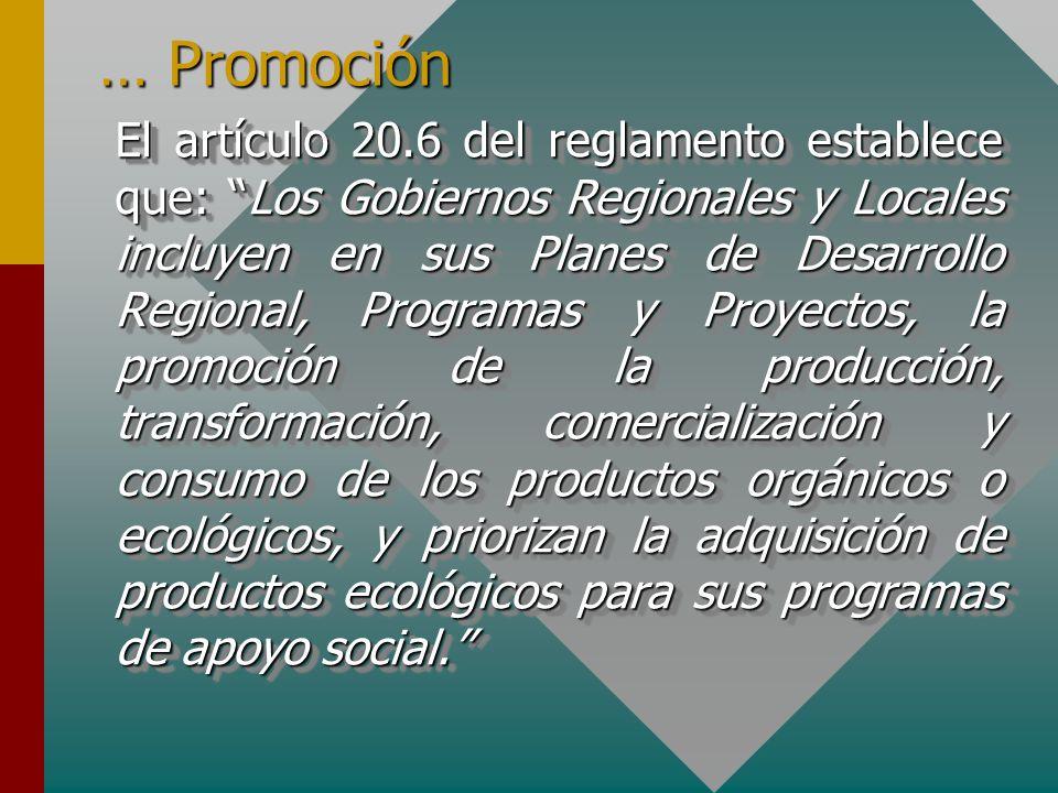 … Promoción