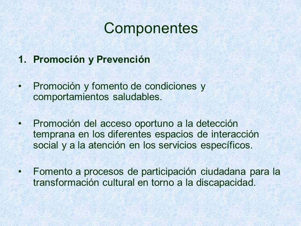 Componentes Promoción y Prevención