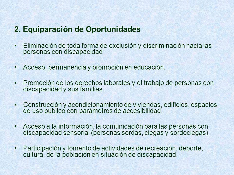 2. Equiparación de Oportunidades