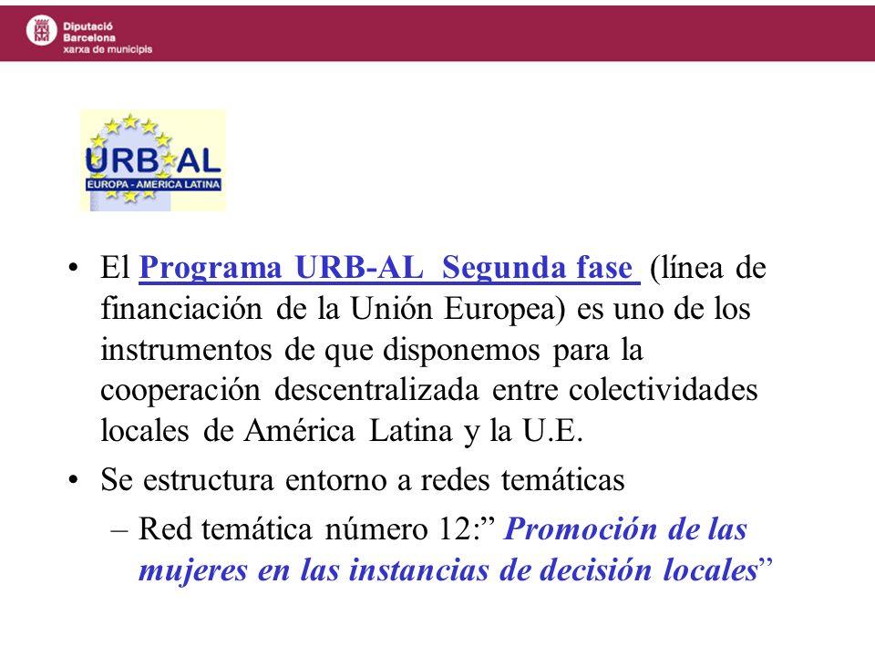 El Programa URB-AL Segunda fase (línea de financiación de la Unión Europea) es uno de los instrumentos de que disponemos para la cooperación descentralizada entre colectividades locales de América Latina y la U.E.