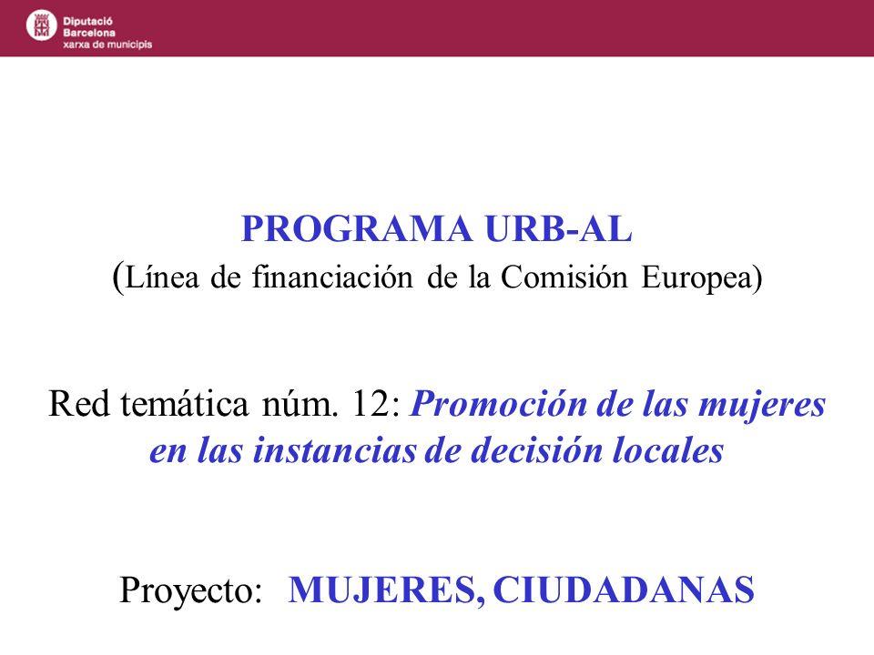 PROGRAMA URB-AL (Línea de financiación de la Comisión Europea) Red temática núm.