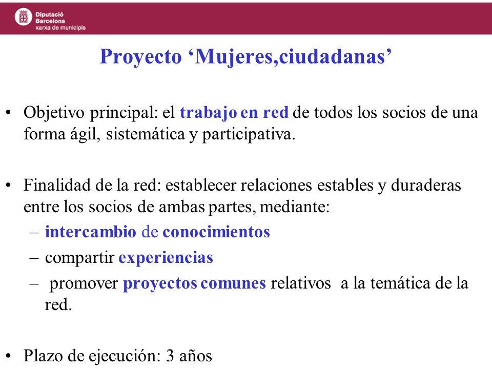 Proyecto 'Mujeres,ciudadanas'