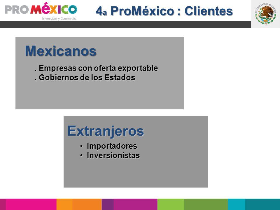 Mexicanos Extranjeros 4a ProMéxico : Clientes