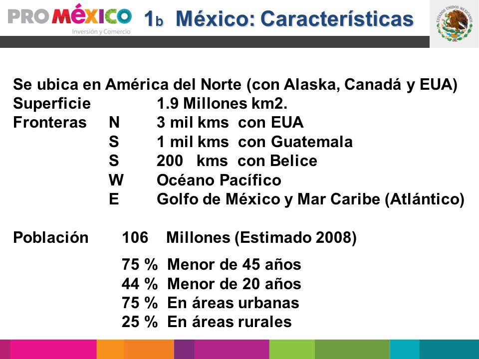 1b México: Características