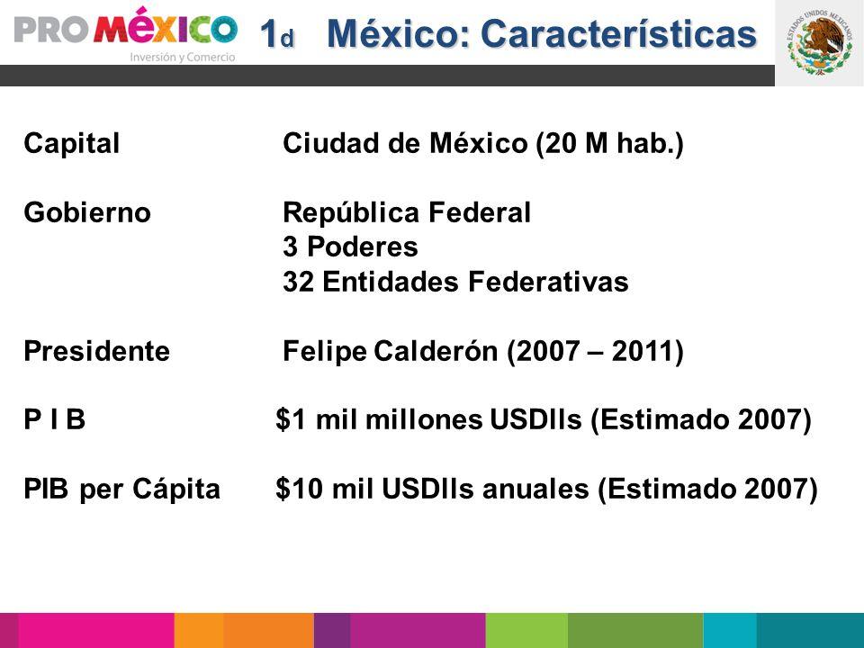 1d México: Características