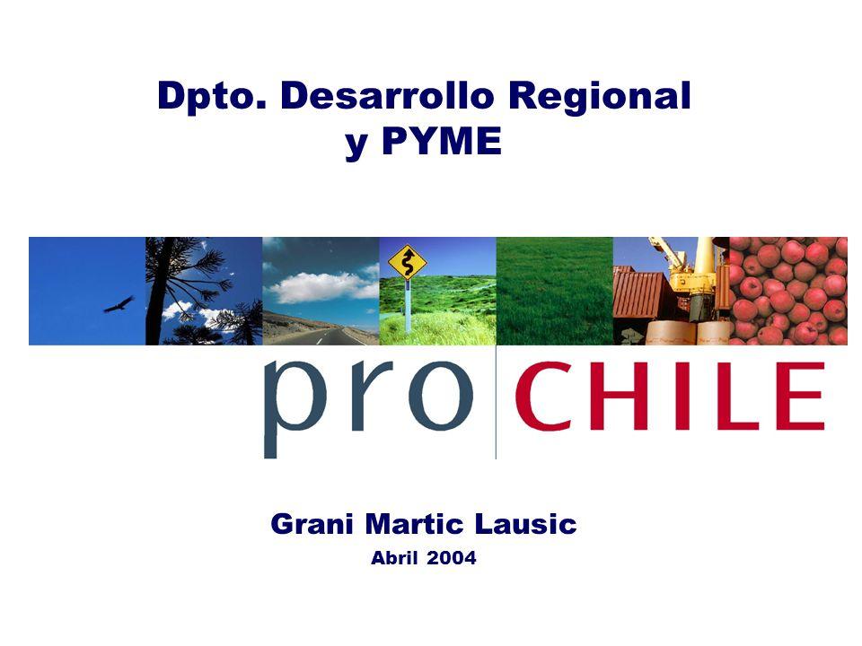 Dpto. Desarrollo Regional y PYME