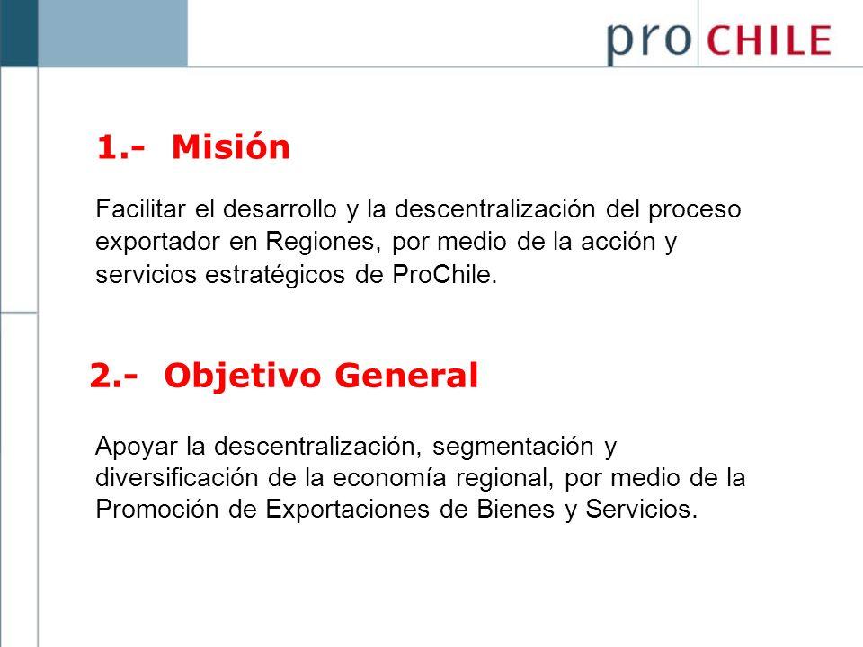 1.- Misión 2.- Objetivo General