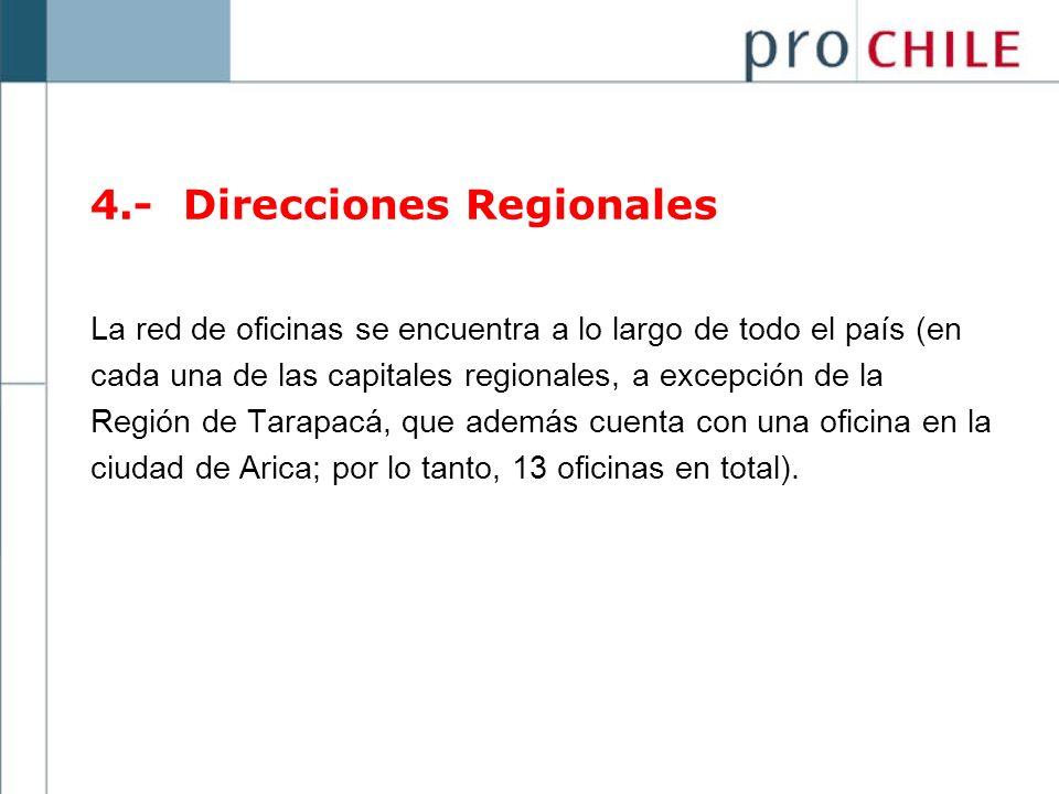 4.- Direcciones Regionales