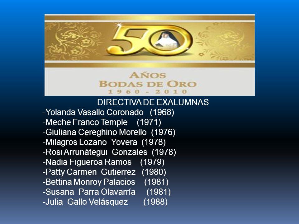 DIRECTIVA DE EXALUMNAS