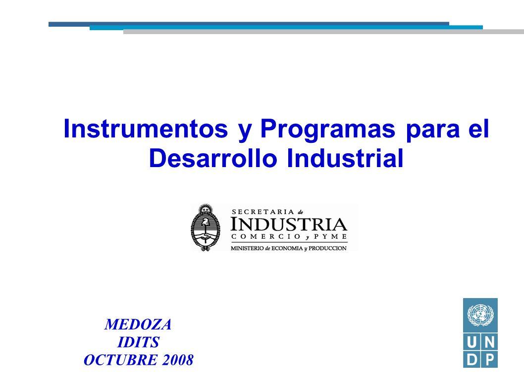 Instrumentos y Programas para el Desarrollo Industrial