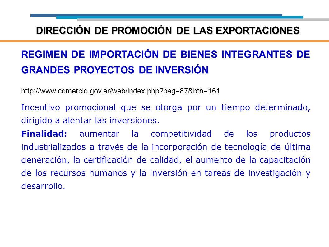 DIRECCIÓN DE PROMOCIÓN DE LAS EXPORTACIONES