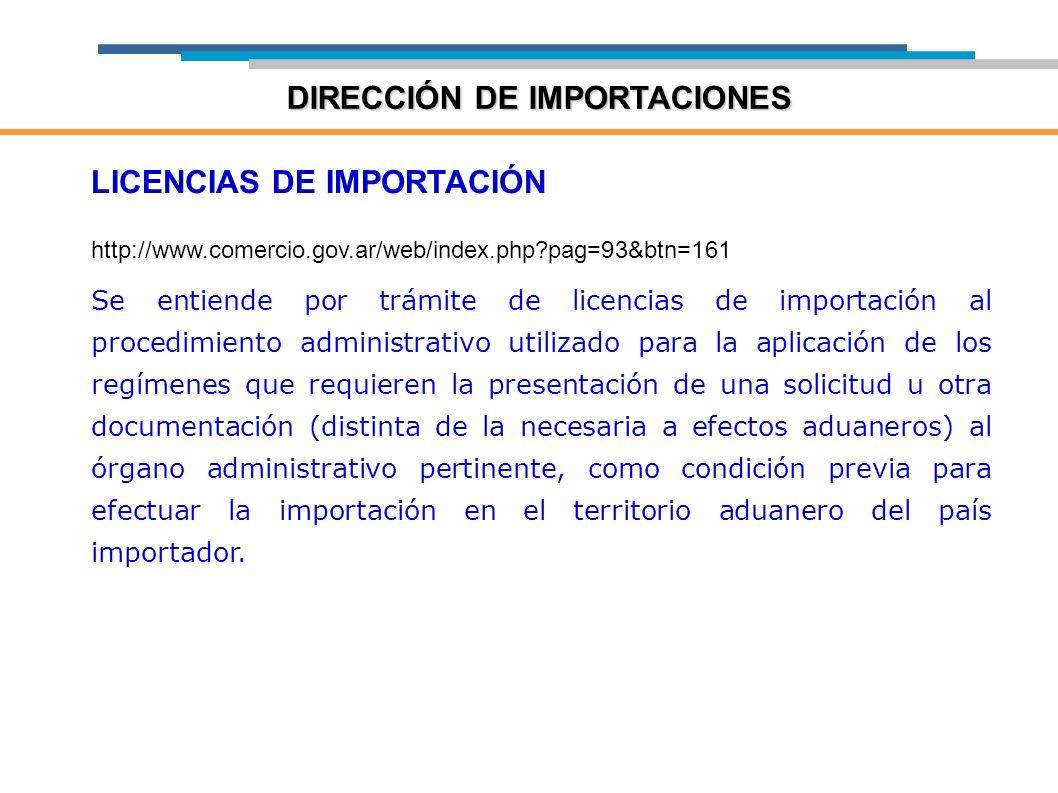 DIRECCIÓN DE IMPORTACIONES