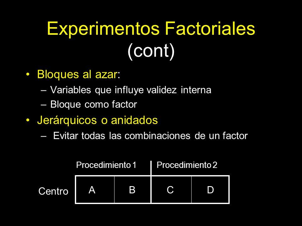 Experimentos Factoriales (cont)