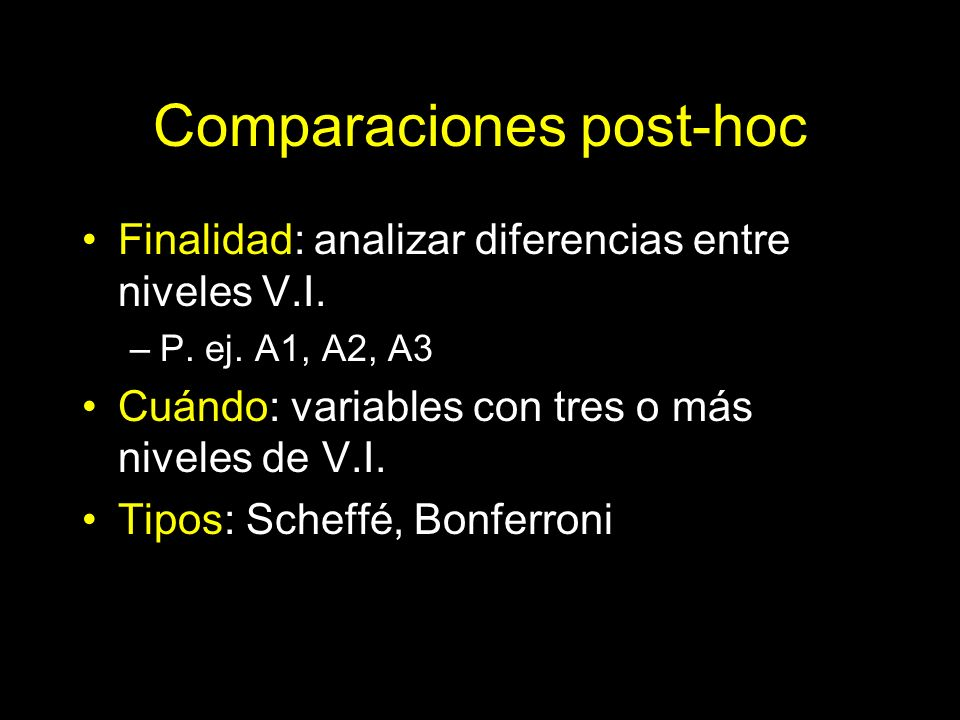 Comparaciones post-hoc