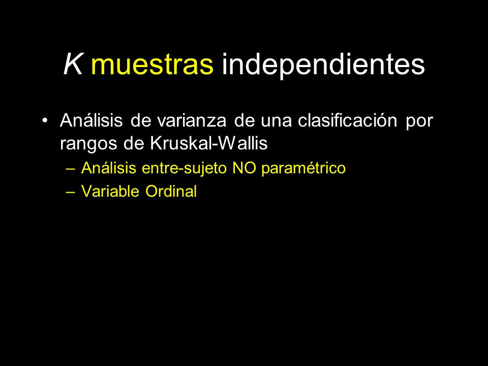 K muestras independientes