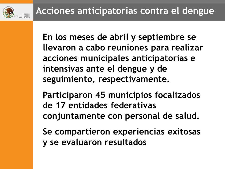 Acciones anticipatorias contra el dengue