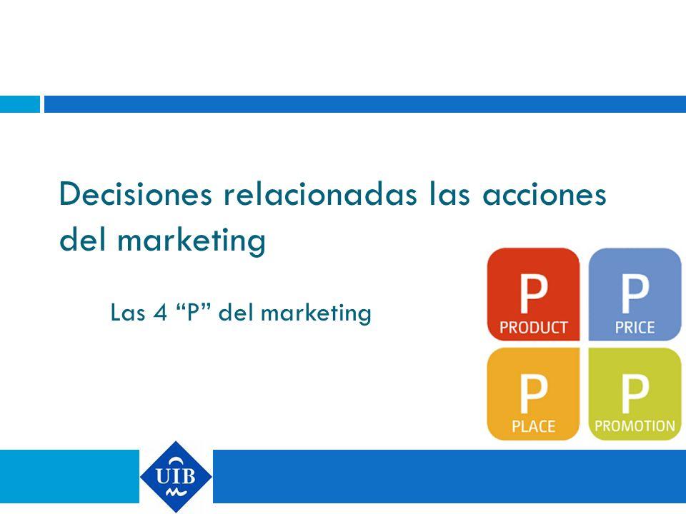 Decisiones relacionadas las acciones del marketing
