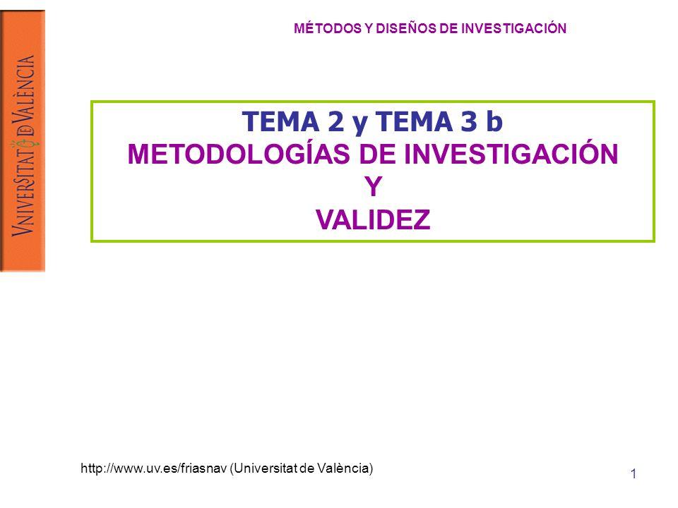 MÉTODOS Y DISEÑOS DE INVESTIGACIÓN METODOLOGÍAS DE INVESTIGACIÓN