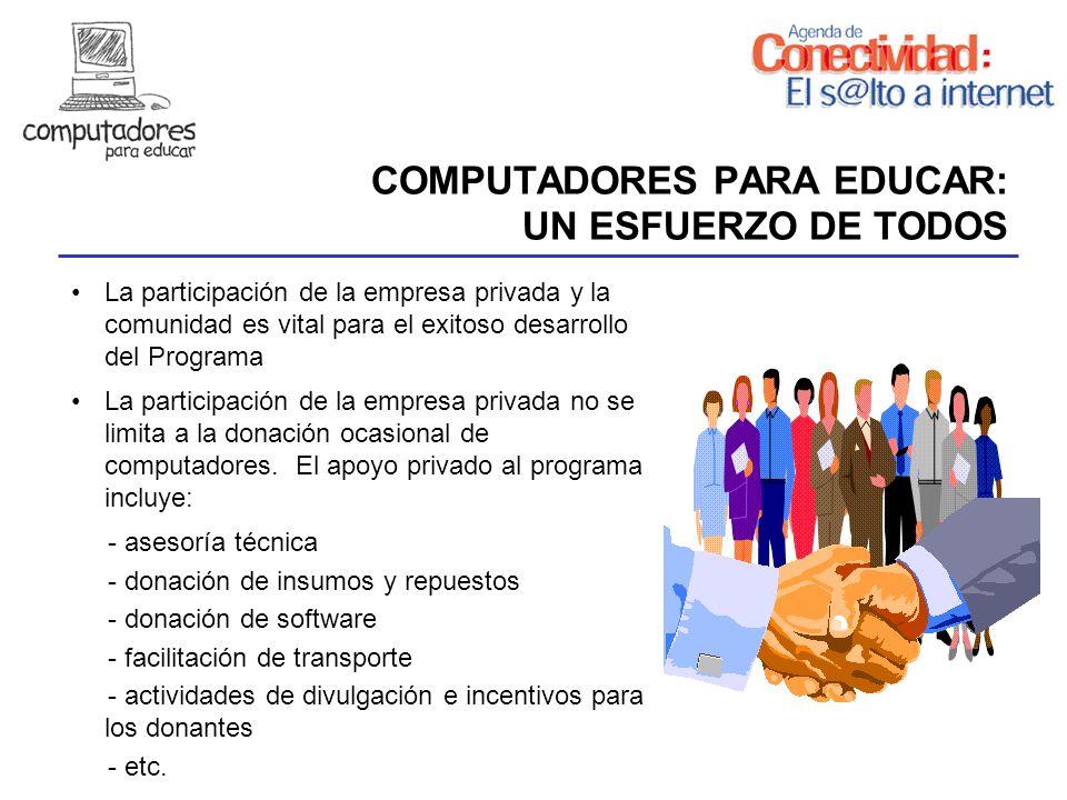 COMPUTADORES PARA EDUCAR: UN ESFUERZO DE TODOS