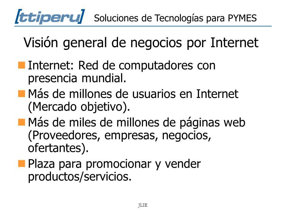 Visión general de negocios por Internet
