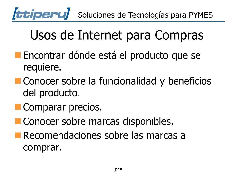Usos de Internet para Compras