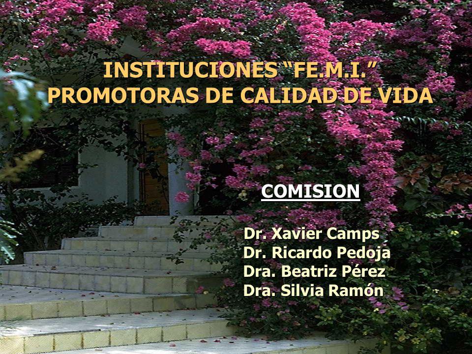 INSTITUCIONES FE.M.I. PROMOTORAS DE CALIDAD DE VIDA