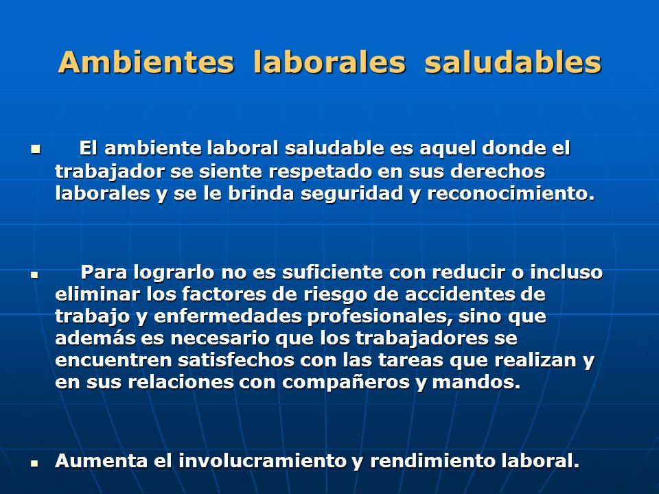 Ambientes laborales saludables