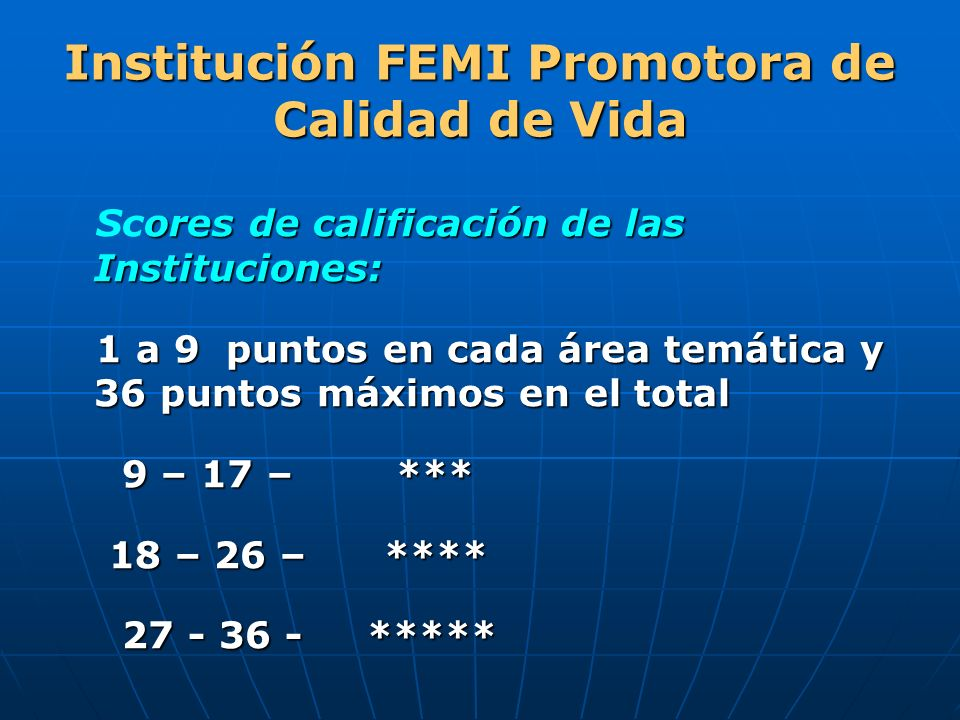 Institución FEMI Promotora de Calidad de Vida