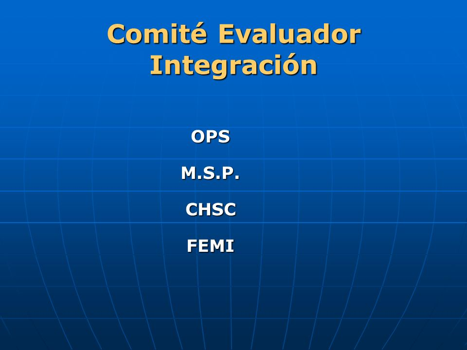 Comité Evaluador Integración