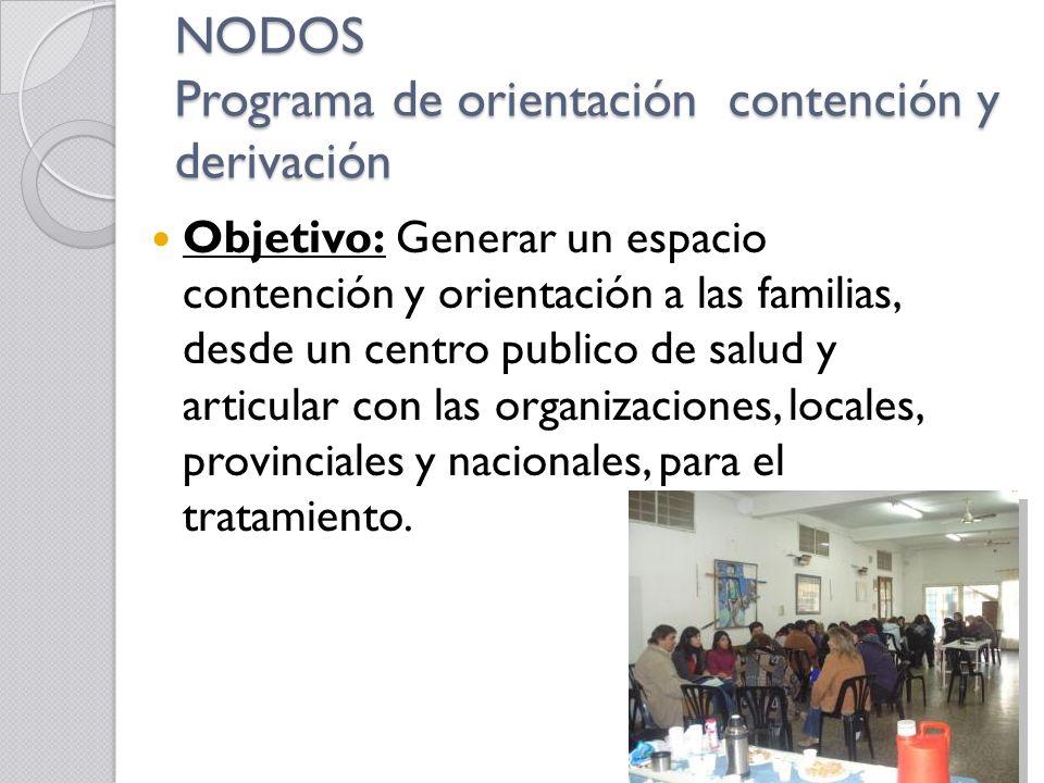 NODOS Programa de orientación contención y derivación