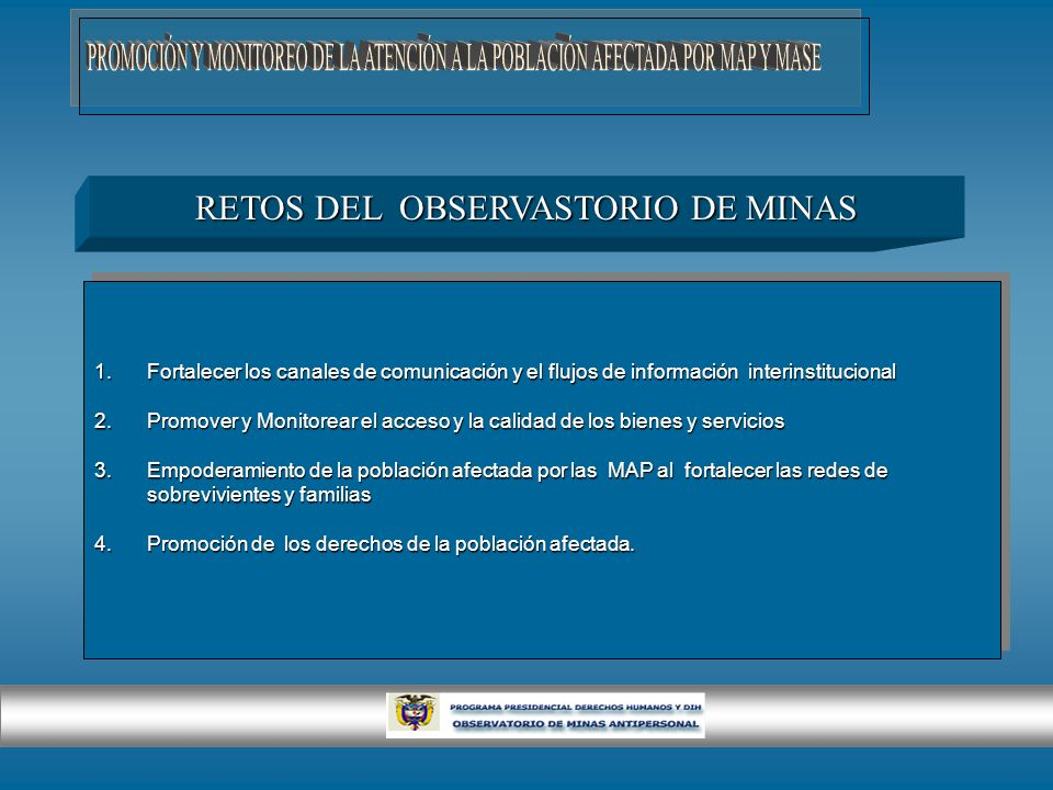 RETOS DEL OBSERVASTORIO DE MINAS