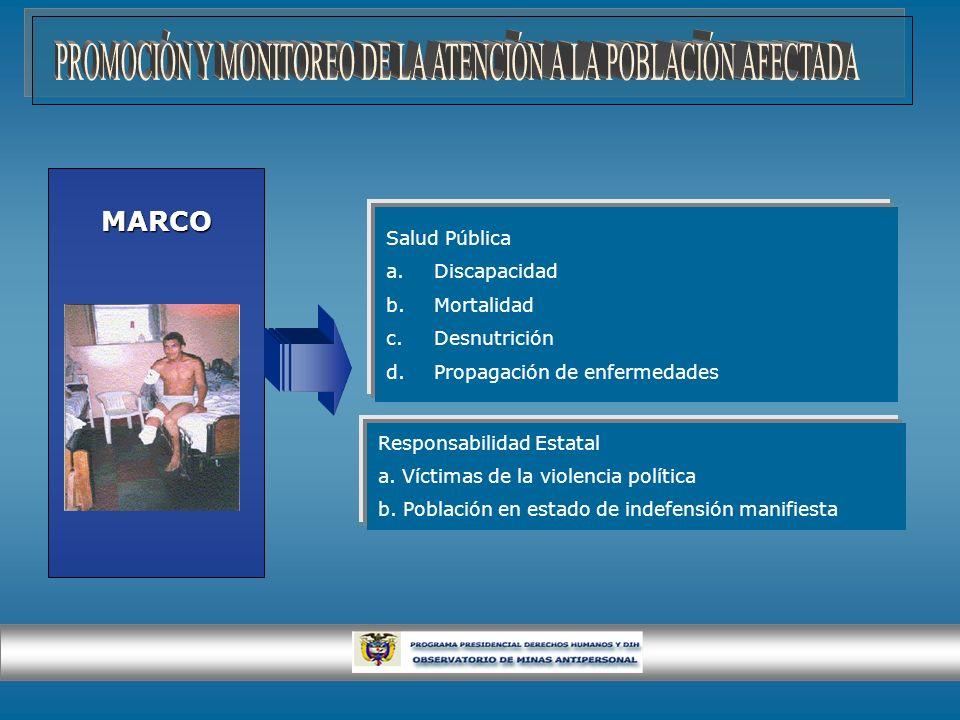 PROMOCIÓN Y MONITOREO DE LA ATENCIÓN A LA POBLACIÓN AFECTADA