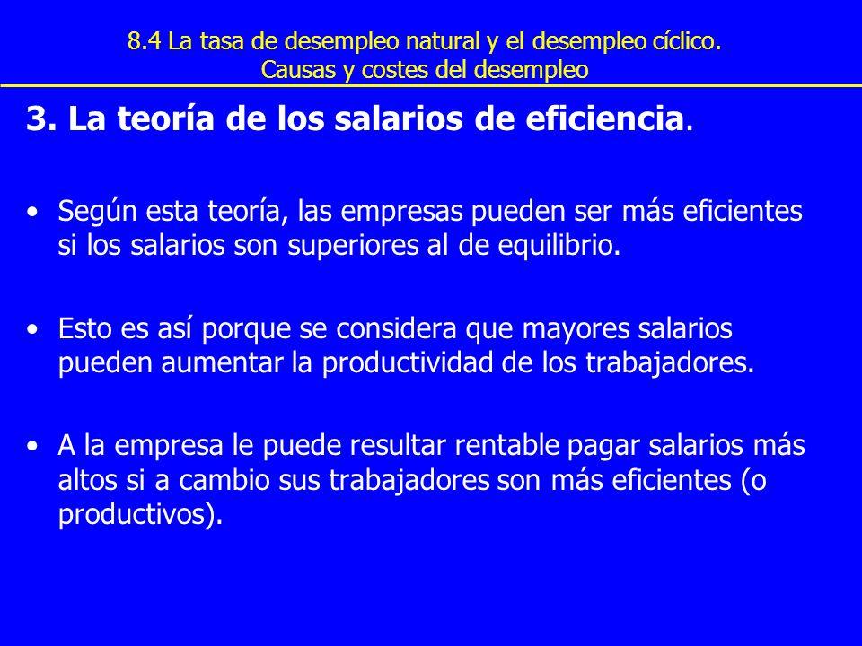 3. La teoría de los salarios de eficiencia.