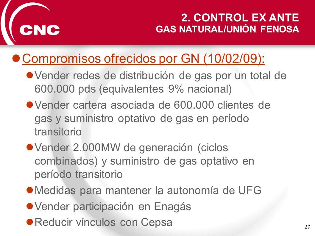 Compromisos ofrecidos por GN (10/02/09):