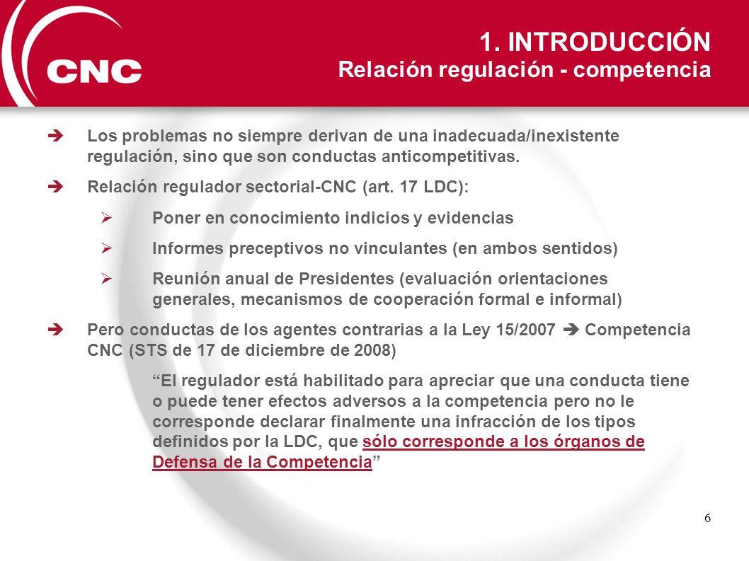 1. INTRODUCCIÓN Relación regulación - competencia
