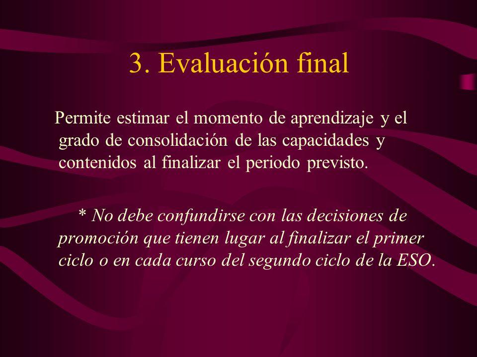 3. Evaluación final