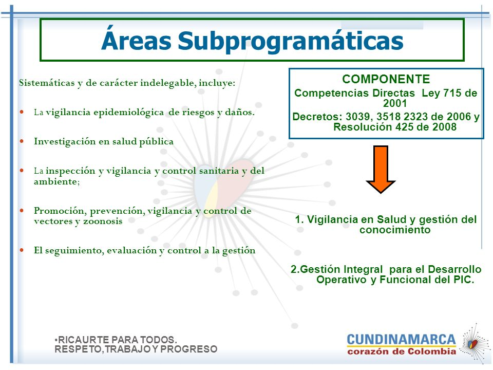 Áreas Subprogramáticas