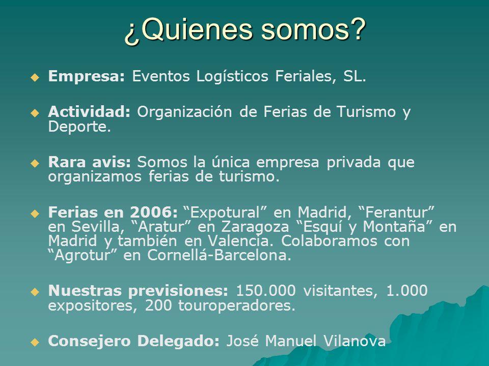 ¿Quienes somos Empresa: Eventos Logísticos Feriales, SL.