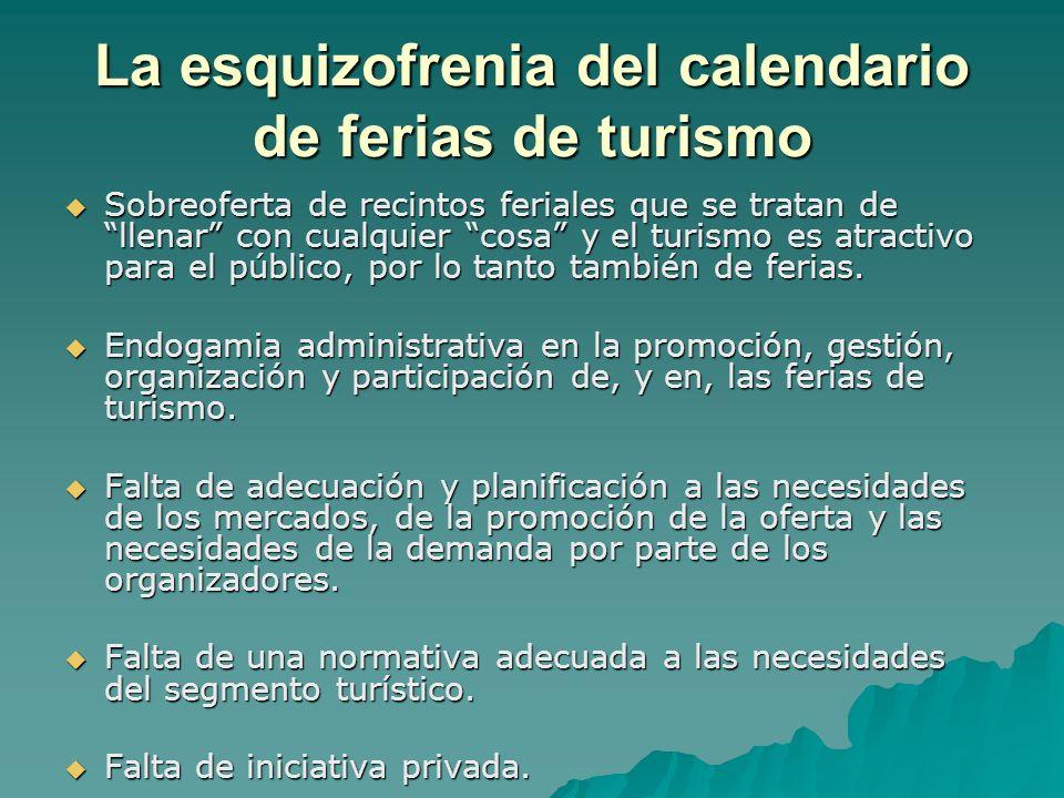 La esquizofrenia del calendario de ferias de turismo