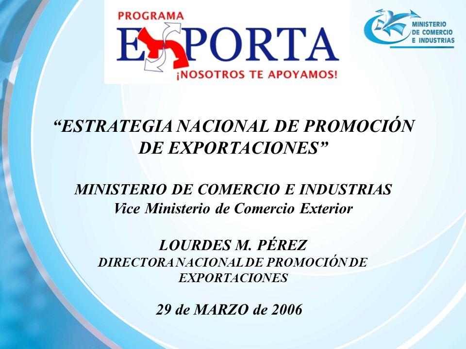 ESTRATEGIA NACIONAL DE PROMOCIÓN DE EXPORTACIONES