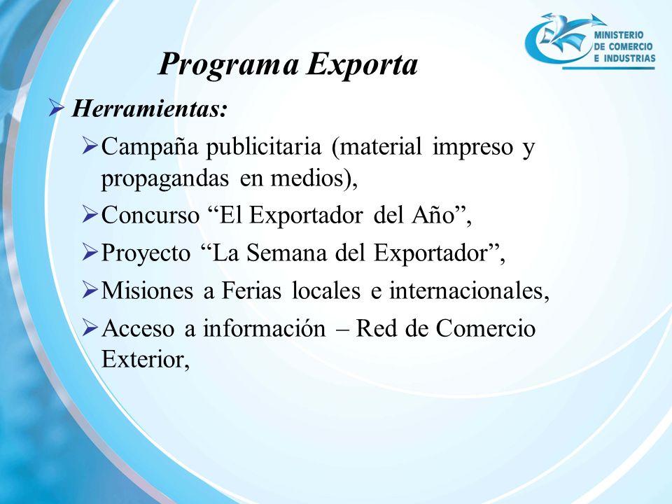 Programa Exporta Herramientas: