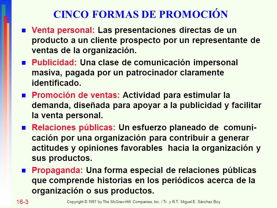 CINCO FORMAS DE PROMOCIÓN
